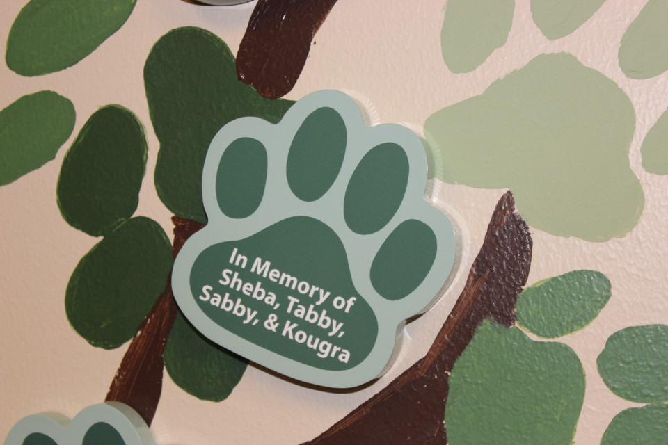 Engraved Paw Print Donation Form